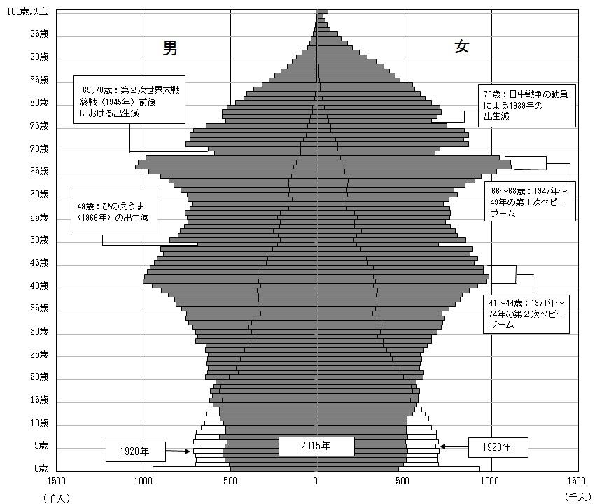 国内人口ピラミッド
